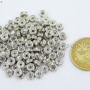 100-Czech-Crystal-Rhinestone-Pewter-Rondelle-Spacer-Beads-4mm-5mm-6mm-8mm-10mm-370892912743-3700