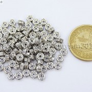 100-Czech-Crystal-Rhinestone-Pewter-Rondelle-Spacer-Beads-4mm-5mm-6mm-8mm-10mm-370892912743-4a63