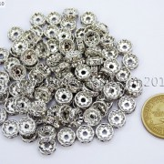 100-Czech-Crystal-Rhinestone-Pewter-Rondelle-Spacer-Beads-4mm-5mm-6mm-8mm-10mm-370892912743-8954
