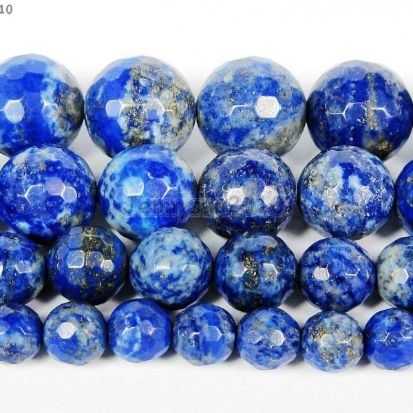 100-Natural-Lapis-Lazuli-Gemstone-Faceted-Round-Beads-15-6mm-8mm-10mm-12mm-261340208495
