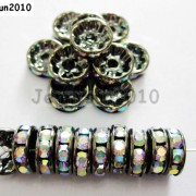 100P-Czech-Crystal-Rhinestone-Gunmetal-Rondelle-Spacer-Bead-4mm-5mm-6mm-8mm-10mm-261044024125-1906