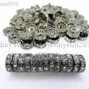 100P-Czech-Crystal-Rhinestone-Gunmetal-Rondelle-Spacer-Bead-4mm-5mm-6mm-8mm-10mm-261044024125-3