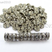 100P-Czech-Crystal-Rhinestone-Gunmetal-Rondelle-Spacer-Bead-4mm-5mm-6mm-8mm-10mm-261044024125-4