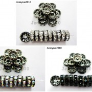 100P-Czech-Crystal-Rhinestone-Gunmetal-Rondelle-Spacer-Bead-4mm-5mm-6mm-8mm-10mm-261044024125-6