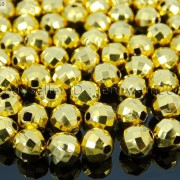100Pcs-22K-Gold-Vacuum-Plated-Over-Copper-Faceted-Round-Beads-4mm-5mm-6mm-8mm-281042607795-1e04