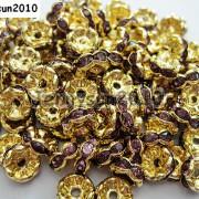 100Pcs-Czech-Crystal-Rhinestone-Wavy-Rondelle-Spacer-Beads-4mm-5mm-6mm-8mm-10mm-251089093224-0d24