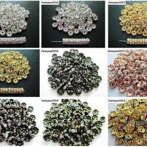 100Pcs-Czech-Crystal-Rhinestone-Wavy-Rondelle-Spacer-Beads-4mm-5mm-6mm-8mm-10mm-251089093224