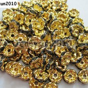 100Pcs-Czech-Crystal-Rhinestone-Wavy-Rondelle-Spacer-Beads-4mm-5mm-6mm-8mm-10mm-251089093224-a078