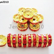 100Pcs-Czech-Crystal-Rhinestones-Gold-Rondelle-Spacer-Beads-4mm-5mm-6mm-8mm-10mm-261044485528-10f0