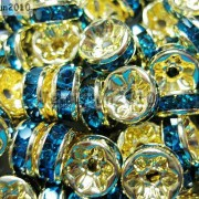 100Pcs-Czech-Crystal-Rhinestones-Gold-Rondelle-Spacer-Beads-4mm-5mm-6mm-8mm-10mm-261044485528-2a14