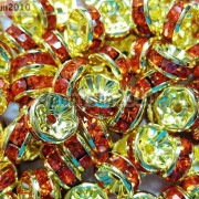 100Pcs-Czech-Crystal-Rhinestones-Gold-Rondelle-Spacer-Beads-4mm-5mm-6mm-8mm-10mm-261044485528-3bf4