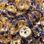 100Pcs-Czech-Crystal-Rhinestones-Gold-Rondelle-Spacer-Beads-4mm-5mm-6mm-8mm-10mm-261044485528-44cc