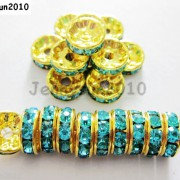 100Pcs-Czech-Crystal-Rhinestones-Gold-Rondelle-Spacer-Beads-4mm-5mm-6mm-8mm-10mm-261044485528-49f6