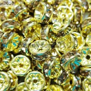 100Pcs-Czech-Crystal-Rhinestones-Gold-Rondelle-Spacer-Beads-4mm-5mm-6mm-8mm-10mm-261044485528-578a