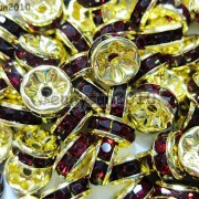 100Pcs-Czech-Crystal-Rhinestones-Gold-Rondelle-Spacer-Beads-4mm-5mm-6mm-8mm-10mm-261044485528-5c5a