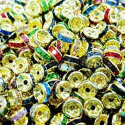 100Pcs-Czech-Crystal-Rhinestones-Gold-Rondelle-Spacer-Beads-4mm-5mm-6mm-8mm-10mm-261044485528-5fd5