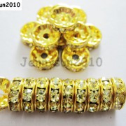 100Pcs-Czech-Crystal-Rhinestones-Gold-Rondelle-Spacer-Beads-4mm-5mm-6mm-8mm-10mm-261044485528-71d9