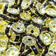 100Pcs-Czech-Crystal-Rhinestones-Gold-Rondelle-Spacer-Beads-4mm-5mm-6mm-8mm-10mm-261044485528-7e96