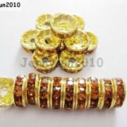 100Pcs-Czech-Crystal-Rhinestones-Gold-Rondelle-Spacer-Beads-4mm-5mm-6mm-8mm-10mm-261044485528-81af