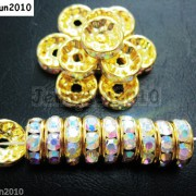 100Pcs-Czech-Crystal-Rhinestones-Gold-Rondelle-Spacer-Beads-4mm-5mm-6mm-8mm-10mm-261044485528-87f4
