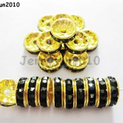 100Pcs-Czech-Crystal-Rhinestones-Gold-Rondelle-Spacer-Beads-4mm-5mm-6mm-8mm-10mm-261044485528-8866