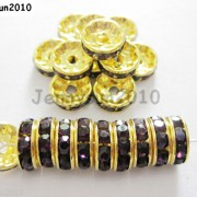 100Pcs-Czech-Crystal-Rhinestones-Gold-Rondelle-Spacer-Beads-4mm-5mm-6mm-8mm-10mm-261044485528-912c