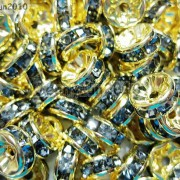 100Pcs-Czech-Crystal-Rhinestones-Gold-Rondelle-Spacer-Beads-4mm-5mm-6mm-8mm-10mm-261044485528-91bc