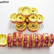 100Pcs-Czech-Crystal-Rhinestones-Gold-Rondelle-Spacer-Beads-4mm-5mm-6mm-8mm-10mm-261044485528-a42d