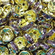 100Pcs-Czech-Crystal-Rhinestones-Gold-Rondelle-Spacer-Beads-4mm-5mm-6mm-8mm-10mm-261044485528-a596