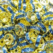 100Pcs-Czech-Crystal-Rhinestones-Gold-Rondelle-Spacer-Beads-4mm-5mm-6mm-8mm-10mm-261044485528-af93