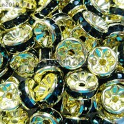 100Pcs-Czech-Crystal-Rhinestones-Gold-Rondelle-Spacer-Beads-4mm-5mm-6mm-8mm-10mm-261044485528-b554