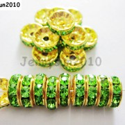 100Pcs-Czech-Crystal-Rhinestones-Gold-Rondelle-Spacer-Beads-4mm-5mm-6mm-8mm-10mm-261044485528-b57e
