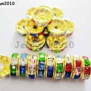 100Pcs-Czech-Crystal-Rhinestones-Gold-Rondelle-Spacer-Beads-4mm-5mm-6mm-8mm-10mm-261044485528-b717