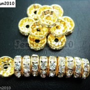100Pcs-Czech-Crystal-Rhinestones-Gold-Rondelle-Spacer-Beads-4mm-5mm-6mm-8mm-10mm-261044485528-f35a