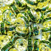 100Pcs-Czech-Crystal-Rhinestones-Gold-Rondelle-Spacer-Beads-4mm-5mm-6mm-8mm-10mm-261044485528-ffde
