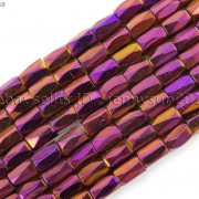 100Pcs-Natural-Magnetic-Hematite-Gemstone-Faceted-Tube-Beads-5x8mm-Metallic-370899383533-030c
