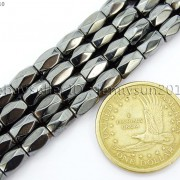 100Pcs-Natural-Magnetic-Hematite-Gemstone-Faceted-Tube-Beads-5x8mm-Metallic-370899383533-3