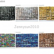 100Pcs-Natural-Magnetic-Hematite-Gemstone-Faceted-Tube-Beads-5x8mm-Metallic-370899383533-5