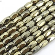 100Pcs-Natural-Magnetic-Hematite-Gemstone-Faceted-Tube-Beads-5x8mm-Metallic-370899383533-8b6f