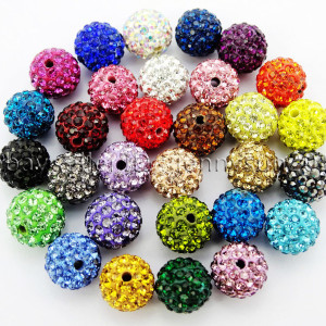 100Pcs-Premium-Czech-Crystal-Rhinestones-Pave-Clay-Round-Disco-Ball-Spacer-Beads-282047949492