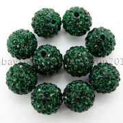 100Pcs-Premium-Czech-Crystal-Rhinestones-Pave-Clay-Round-Disco-Ball-Spacer-Beads-282047949492-5eb3