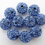 100Pcs-Premium-Czech-Crystal-Rhinestones-Pave-Clay-Round-Disco-Ball-Spacer-Beads-282047949492-d56e