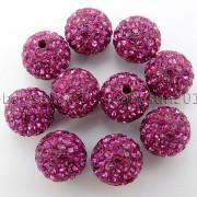 100Pcs-Premium-Czech-Crystal-Rhinestones-Pave-Clay-Round-Disco-Ball-Spacer-Beads-282047949492-fa79
