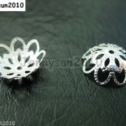 100Pcs-Silver-Plated-Over-Copper-10mm-Curved-Bead-Caps-Flower-Findings-261060714596-2