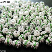 100pcs-Czech-Crystal-Rhinestones-Pave-Diamante-Round-Spacer-Beads-6mm-8mm-10mm-251087497248-2ecd