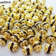 100pcs-Czech-Crystal-Rhinestones-Pave-Diamante-Round-Spacer-Beads-6mm-8mm-10mm-251087497248-451b
