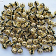 100pcs-Czech-Crystal-Rhinestones-Pave-Diamante-Round-Spacer-Beads-6mm-8mm-10mm-251087497248-4dbe