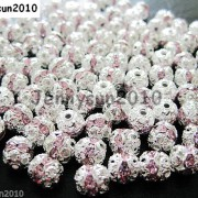 100pcs-Czech-Crystal-Rhinestones-Pave-Diamante-Round-Spacer-Beads-6mm-8mm-10mm-251087497248-508c