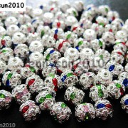100pcs-Czech-Crystal-Rhinestones-Pave-Diamante-Round-Spacer-Beads-6mm-8mm-10mm-251087497248-7afb