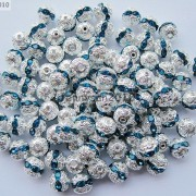 100pcs-Czech-Crystal-Rhinestones-Pave-Diamante-Round-Spacer-Beads-6mm-8mm-10mm-251087497248-88db